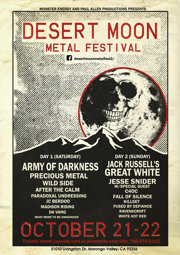 DESERT MOON METAL FESTIVAL 2 UPDATED POSTER