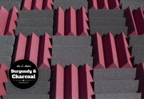 mix and match acoustic foam colors - burgundy and charcoal