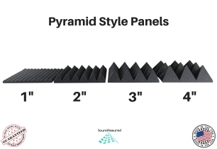 pyramid' style acoustic foam panels