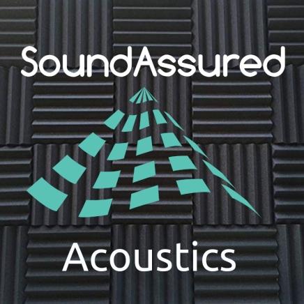 soundassured logo with foam background