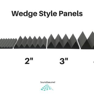 wedge style acoustic foam panels