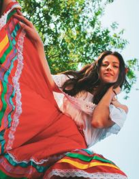 alicia in Mexican dress