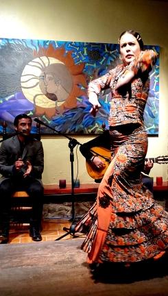 Maria Jose Valdez Dancing Flamenco at La Cocherra Cultura